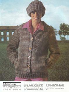 années 70: Magazine tricot PINGOUIN N°7 Pull tunique / gilet / veste / modèle gratuit