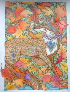 Marjorie sarnat fanciful foxes Fox Coloring Page, Adult Coloring Pages, Colouring, Coloring Books, Enchanted Forest Book, Enchanted Forest Coloring Book, Book Pages, Foxes, Unicorns