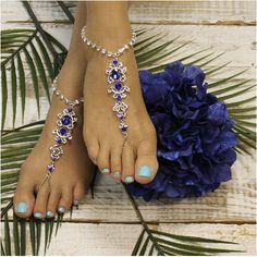 SAPPHIRE – wedding barefoot sandals – blue Barefoot sandals in sapphire blue. Breathtaking is perfect word to describe our sapphire blue rhinestone silver barefoot sandals. These brilliant blue sandals look great barefoot or with your wedding Barefoot Sandals Wedding, Beach Wedding Shoes, Barefoot Shoes, Dream Wedding, Barefoot Running, Zapatos Bling Bling, Bling Shoes, Sapphire Blue Weddings, Sapphire Wedding