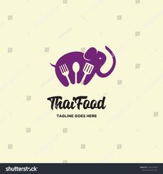 negative space fork, spoon and spatula in elephant shape for thailand food logo icon vector inspiration Vector Design, Logo Design, Logo Food, Negative Space, Fork, Spoon, Thailand, Elephant, Royalty Free Stock Photos