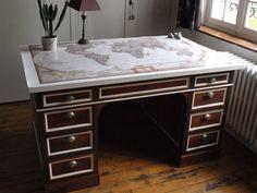 Nell& Co - Bureau ministre relooké - Refinished french ministre desk