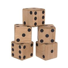 Roll out big fun at your next get-together with these Wembley Yard Dice. Wooden Toy Train, Wooden Toys, Yard Dice, Adirondack Chair Plans Free, Crafts For Kids, Diy Crafts, Kohls, Cube, Games