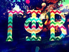 super cute & colorful chevron letters #DIY #gammaphibeta