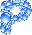 Alfabeto formado con piedras azules.   Oh my Alfabetos!