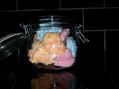 Bath butter clouds highly scented. Pink cherry, Orange Pina colads, Blue Sweetpea £7.50