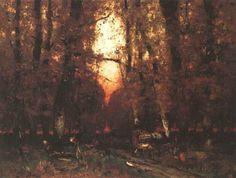 In the Forest, László Paál, ca. Moonlight, Sunrise, Romance, Paintings, French, Image, Google, Beauty, Romance Film