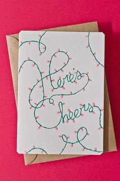Here's Cheers card by The Hungry Workshop $6