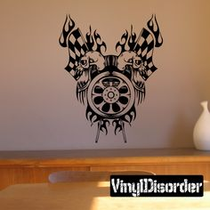 Racing Graphic Wall Decal - Vinyl Decal - Car Decal - DC 23009