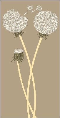 I adore the idea of a dandelion motif, it reminds me of Anna's whimsical and wistful side we all love … not to mention the lovely projection of all your wishes finally coming true!