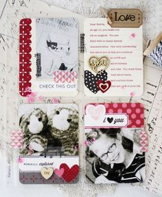 Love You Scrapbook Layout by Melissa Phillips for Papertrey Ink (March 2014)