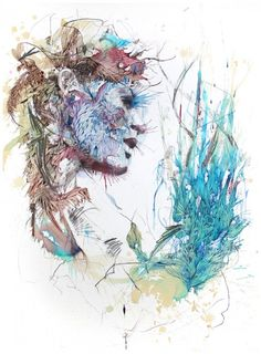 Portraits Drawn With Coffee, Tea, and Ink: Carne Griffiths.