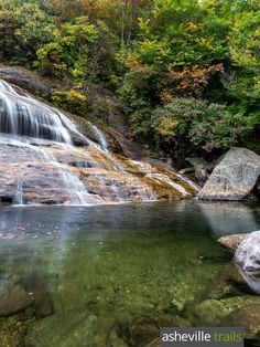 Hike the Graveyard Fields Trail to beautiful waterfalls on the Blue Ridge Parkway in North Carolina