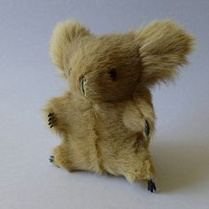 Vintage koala toy made with Kangaroo fur, 1950's Australiana, vintage souvenir, marsupial, small