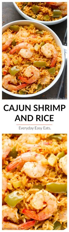 This One-Pot Cajun Shrimp and Rice recipe is spicy, satisfying and perfect for busy weeknights! Ready to eat in just 30 minutes.