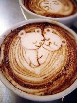 These little bears in this latte art are too cute! #Coffee #LatteArt #MrCoffee