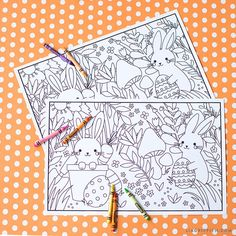 Kid's Easter Coloring Placemats