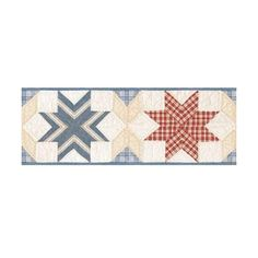 Brewster FFR65302B Ocean Star Quilt Border Wallpaper Ocean Star Quilt ($37) ❤ liked on Polyvore featuring home, bed & bath, bedding, quilts, borders, home decor, ocean star quilt, wallpaper, star bedding and bright colored bedding