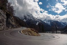 The Predil Pass links Slovenia and Italy. It also happens to have some rather impressive views! Julian Alps, Slovenia, The Good Place, Behind The Scenes, Cycling, This Is Us, Country Roads, Italy, Places