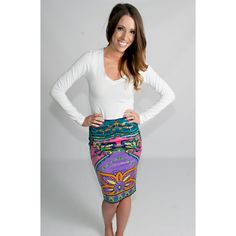 The Kaleidoscope Forest Fitted Skirt- Must have. ;)