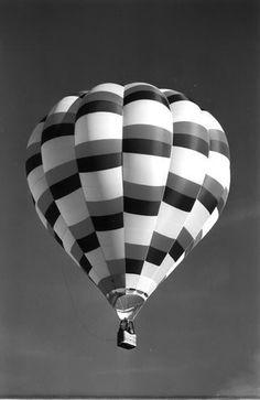 Black & White Hot Air Balloon Photography