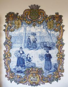 Funchal | Mercado dos / Market of Lavradores | 1940 | Faianças Battistini [© Ana Almeida] #Azulejo #AzulejoDoMês #AzulejoOfTheMonth #Trabalho #Labour #FaiançasBattistini #Funchal