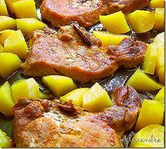 Μα...γυρεύοντας με την Αλεξάνδρα: Χρυσές πατατούλες με μπριζόλες στο φούρνο Pork Recipes, French Toast, Diet, Meals, Cooking, Breakfast, Ethnic Recipes, Food, Recipes