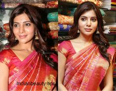 samantha prabhu hairstyles, heroine samantha hairstyles, samantha ruth prabhu hair styles, samantha's hairstyles with sarees, indian party wear hairstyles Bollywood Hairstyles, Saree Hairstyles, Indian Hairstyles, Celebrity Hairstyles, Trendy Hairstyles, South Indian Hairstyle, Traditional Hairstyle, Indian Party Wear, Hair Colour