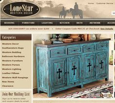 western homes decorations | LoneStar Western Decor home decor catalog contains all things western ...