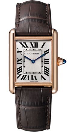 Buy new Tank Louis Cartier Large Model Manual Winding Pink Gold Case Brown Alligator Leather Strap Mens Watch with fast delivery Matt Brown, Cartier Santos, Cartier Tank, Audemars Piguet, Brand Name Watches, Cartier Panthere, Tank Watch, Gold Diamond Watches, Shopping