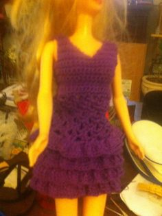 Barbie crochet skirt and top