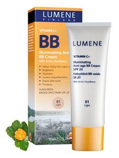 Lumene Vitamin C+ Illuminating Anti-Age BB Cream SPF Best in Good housekeeping Best Anti Aging, Anti Aging Cream, Nerium Night Cream, Bb Cream Reviews, Cream For Oily Skin, Beauty Balm, Broad Spectrum Sunscreen, Even Skin Tone, Vitamin C