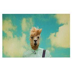 KESS InHouse Natt 'Passenger 1B' Llama Dog Place Mat, 13' x 18' ^^ For more information, visit now : Dog food container