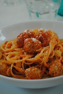 My spaghetti with meatballs, on Cookinglaura!