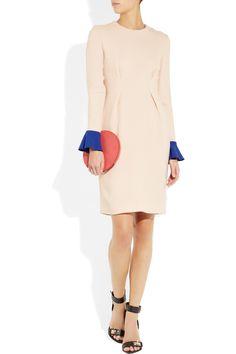 Roksanda Ilincic Izumi two-tone wool-crepe dress NET-A-PORTER.COM