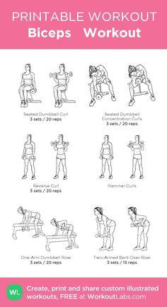 Biceps Workout step by step guide - jahom Bicep Workout Women, Back And Bicep Workout, Chest Workout Women, Gym Workout Plan For Women, Gym Workout For Beginners, Back And Biceps, Dumbbell Workout, Shoulder Workout Women, Bicep Gym Workout