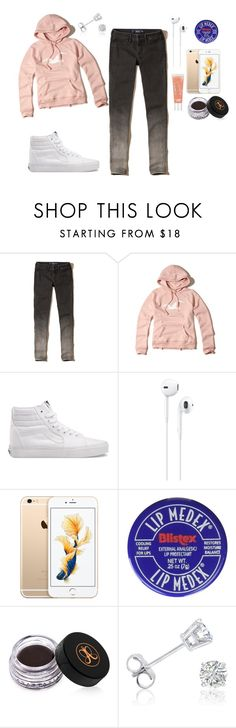 """""""Casual"""" by dreairrational on Polyvore featuring Hollister Co., Vans, Apple, Anastasia Beverly Hills and Amanda Rose Collection"""