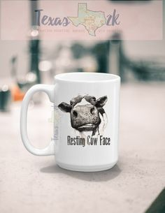 Resting Cow Face - Farm Animals - For the Love of Cows - Cow Face