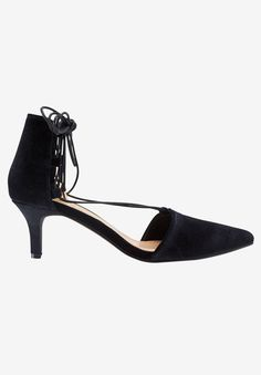 8ade4ade3410 Make these velvet pumps your plus one to any evening event. Features a  pointed toe