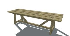 Free Furniture Plans to Build a Restoration Hardware Inspired Provence Beam Dining Table