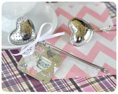 Heart Shaped Tea Infuser -Practical and festive tea party favor! #teapartyideas
