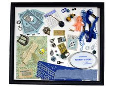Out Of The Blue  Curiosities  Collection of Found Objects