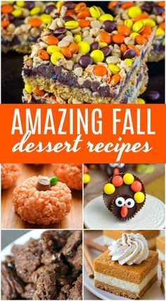 Easy Dessert Recipes for a Crowd for Thanksgiving! Easy Holiday Treats and Desserts for a Crowd including Cute Ideas with Pumpkin, Pies, Chocolate, and Cheesecake! for a crowd Amazing Thanksgiving Dessert Recipes Thanksgiving Desserts Easy, Fall Dessert Recipes, Desserts For A Crowd, Fall Recipes, Holiday Recipes, Snack Recipes, Thanksgiving Holiday, Crowd Recipes, Pumpkin Recipes