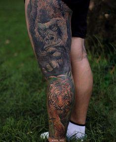 Bogota, Colombia Cicatrizado #tigertattoo #gorillatattoo #tattoo #realistictattoo #wildtattoo # #intenzeink tatuajes de animales en realismo tatuajes de animales tatuajes de animales para la pierna tatuajes para la pierna tatuajes en realismo tatuajes de gorilas tatuajes de tigres a color tatuajes de tigres Realistic animal tattoos animal tattoos animal tattoos for the leg tattoos for the leg tattoos in realism gorilla tattoos color tigers tattoos tiger tattoos