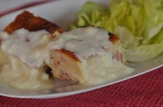 Pudding salé au Mont d'or et lardons Pains, Or, Mashed Potatoes, Eggs, Breakfast, Ethnic Recipes, Savoury French Toast, Cheese, Drinks