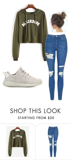 """school outfit"" by audrey-nappi on Polyvore featuring Topshop and adidas Originals"