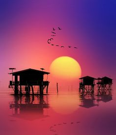 Sunset at Ban Laem, Thailand Showcase of Beautiful Photography Beautiful Sunset, Beautiful World, Beautiful Places, Places To Travel, Places To See, Amazing Sunsets, Belle Photo, Silhouettes, Wonders Of The World