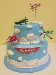 Planes themed birthday cake