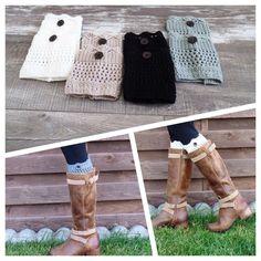 Set Of 4 Boot Cuffs, Women's Boot Cuff, Boot Socks, Knit Boot Cuff  | eBay