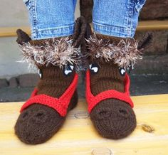 Check out our slippers selection for the very best in unique or custom, handmade pieces from our shops. Etsy, Slippers, Knitting, Boots, Winter, Grandchildren, Fashion, Chopsticks, Bedroom Slippers