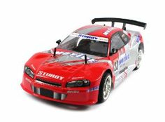 """Nissan Skyline R34 Electric RC Car 1:10 CT Speed Racing 10+MPH RTR (Colors May Vary) High Speed Racing by Velocity Toys. $49.95. Length: 17.5"""" Width: 7.5"""" Height: 6"""". Features: Electric Powered (Rechargeable) Full Function! (Go Forward and Backward, Turn Left and Right) BIG 1:10 Scale! High Torque Electric Motor Capable of Speeds of 10+ MPH!. Requires 700mAh 9.6V Battery to run (Included) Remote Control requires 9V Battery to run (included). Chrome Racing Rims with..."""